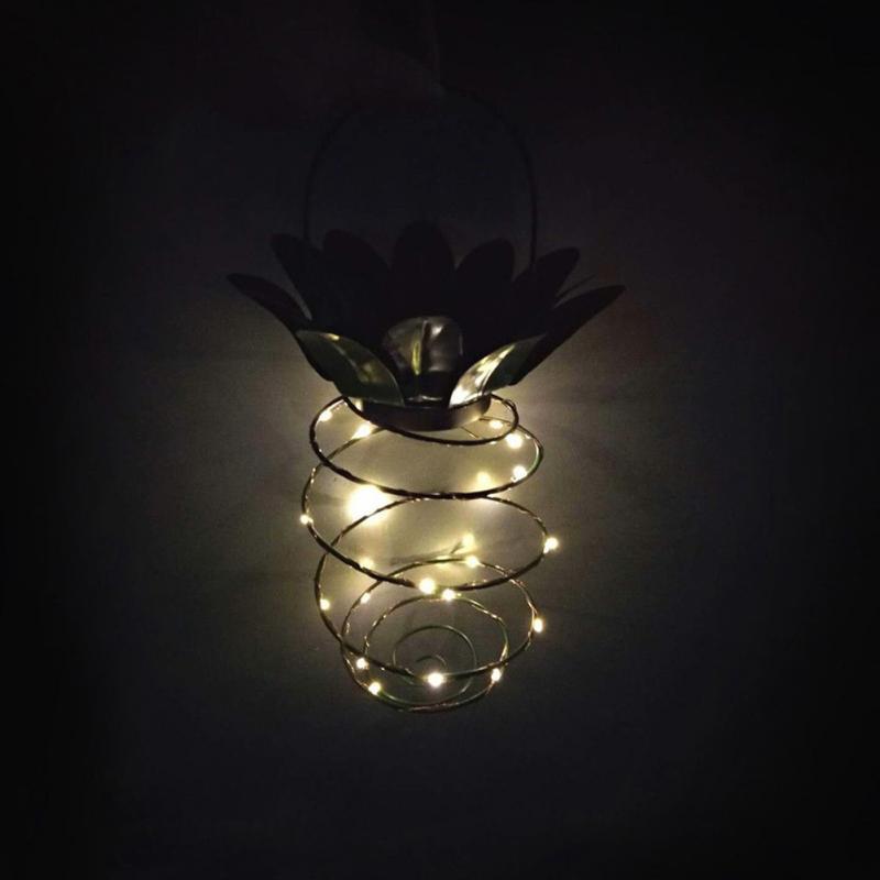 Pineapple LED solar lights 5