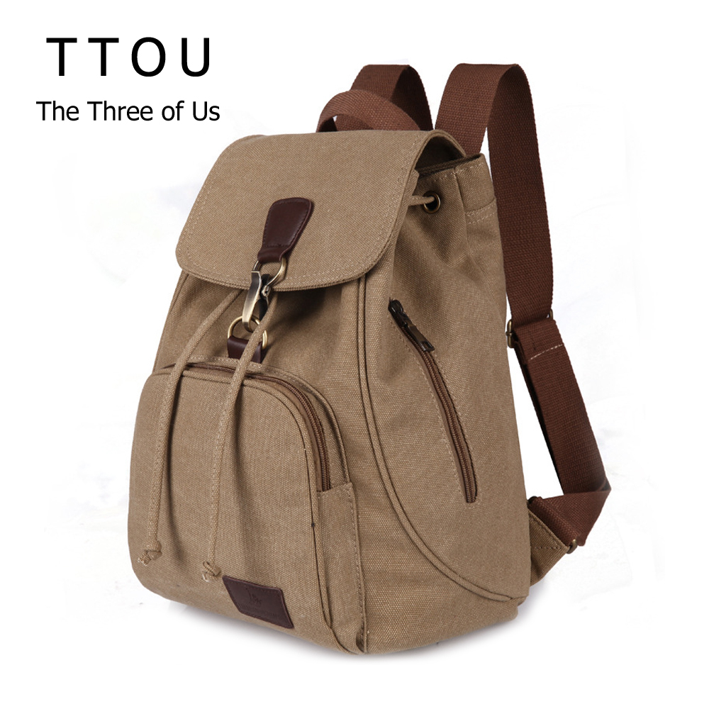 TTOU Canvas Backpack for Women Preppy Style Collage School Backpack for Student Teenage Laptop Travel Backpack Mochila BolsasTTOU Canvas Backpack for Women Preppy Style Collage School Backpack for Student Teenage Laptop Travel Backpack Mochila Bolsas