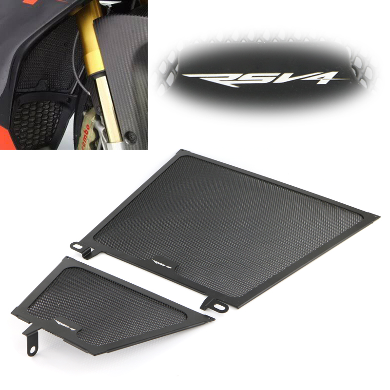 Fit For APRILIA RSV4 Motorcycle Parts Aluminum Frames Radiator Guard Grill Oil Cooler Cover Protector 2014 2015 2016 2017 2018Fit For APRILIA RSV4 Motorcycle Parts Aluminum Frames Radiator Guard Grill Oil Cooler Cover Protector 2014 2015 2016 2017 2018