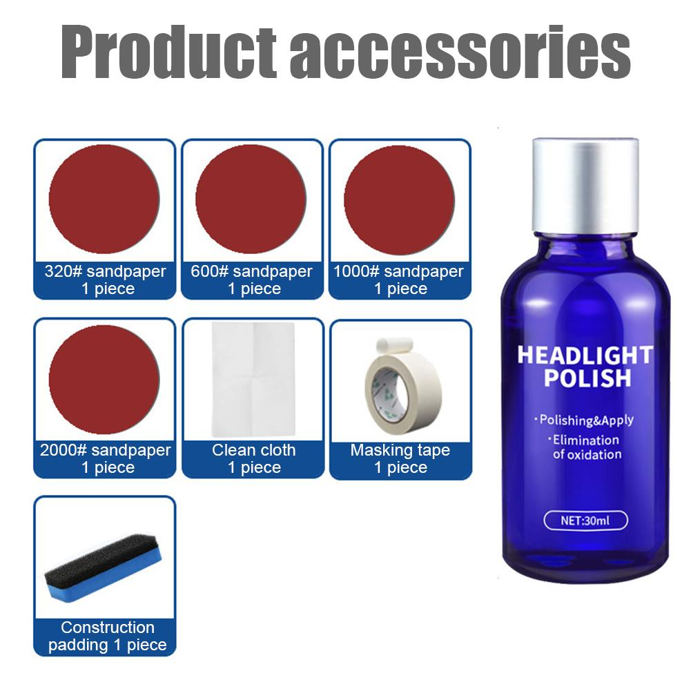 Image 4 - Car Headlights Oxidation Liquid Repair Agent Ceramic Coat Super Hydrophobic Glass Coating Polishing Coating Liquid Repair Tool-in Paint Protective Foil from Automobiles & Motorcycles