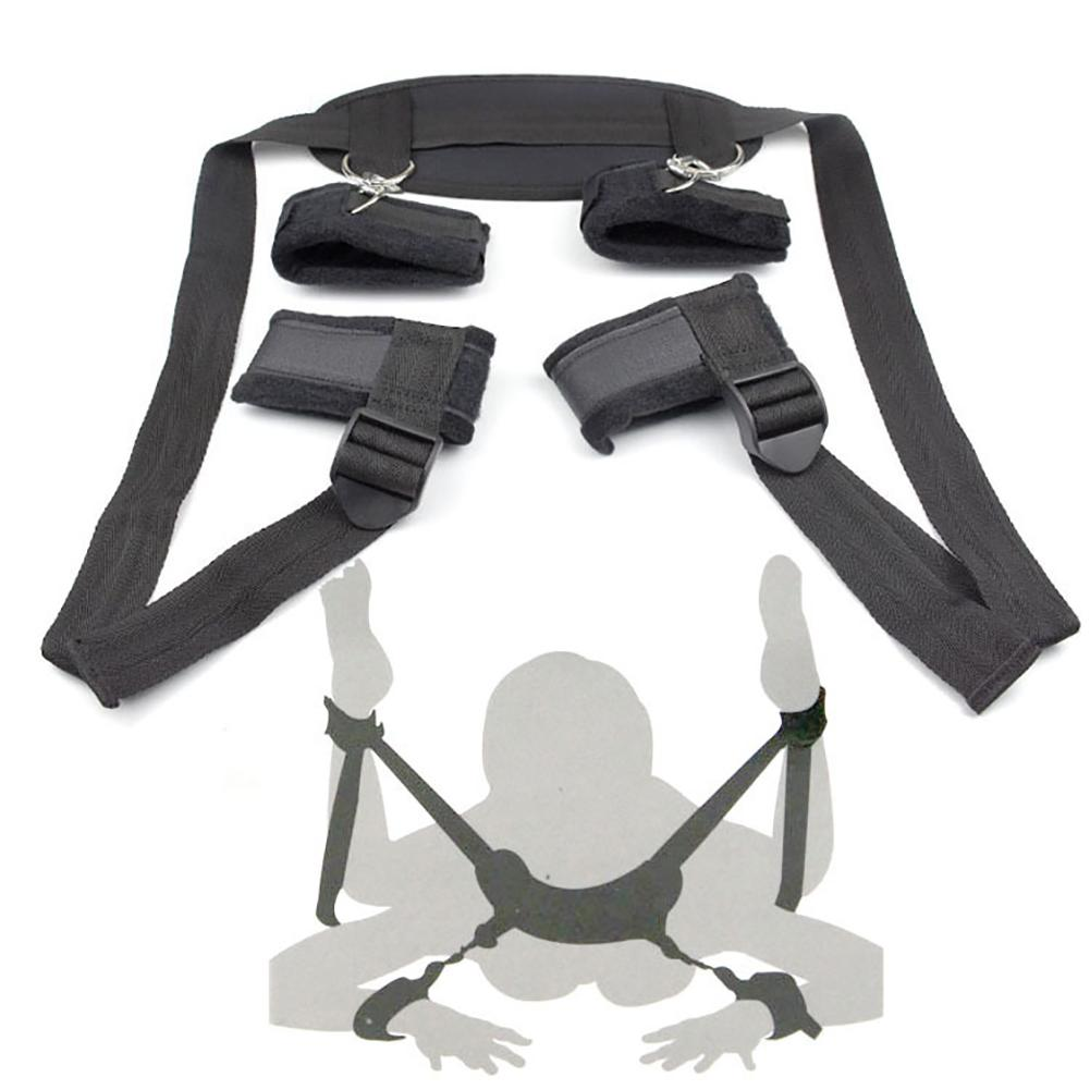 Sex Toys For Adult Lover Couples Sex Game Handcuffs Neck Ankle Cuffs Thigh Wrist Cuff BDSM Bondage Slave Restraint Strap