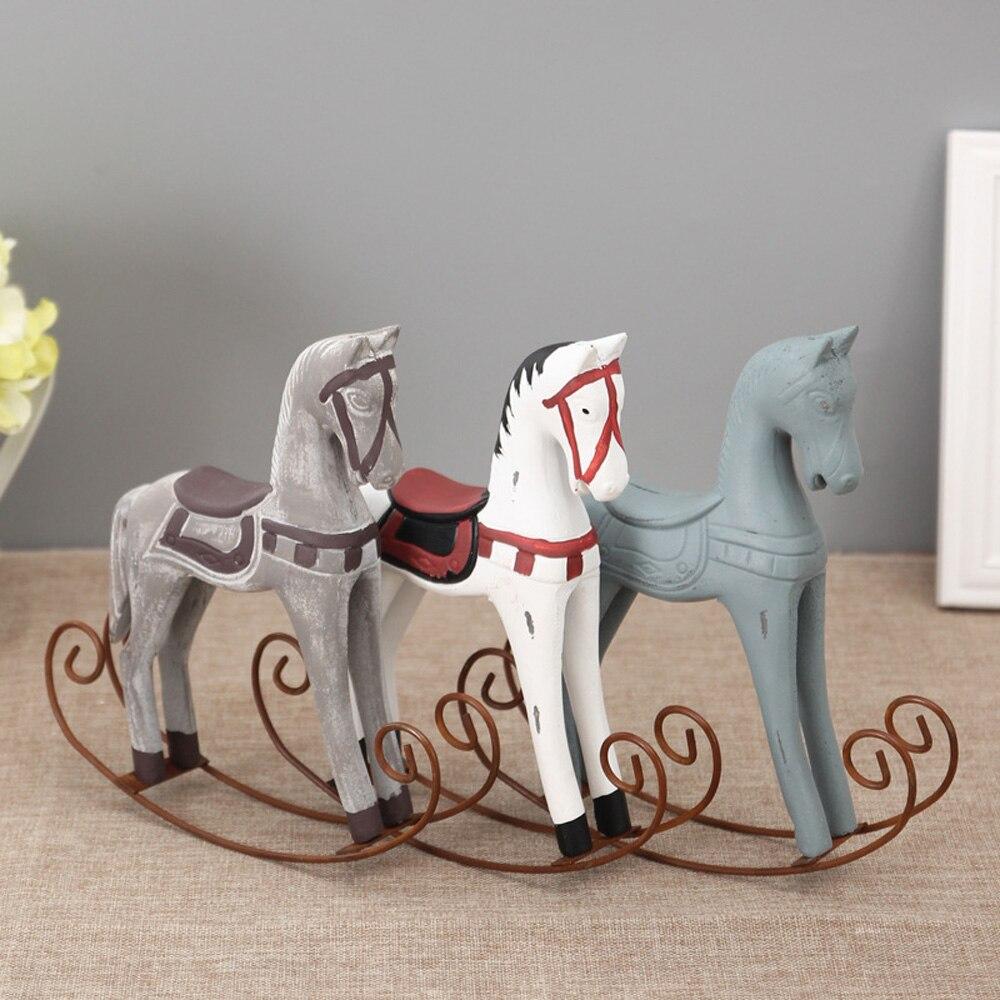Trojan Horse Statue Modern Europe Style Wood Horse Retro ...