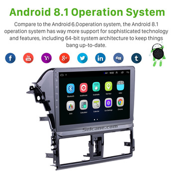 """Seicane Android 8.1 10.1"""" 2Din Car Radio GPS Multimedia Unit Player For Toyota Vios 2013-2016 Support Mirror link Support DVR"""