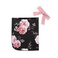 Blanket-Bags Swaddle Muslin Baby-Girls Bedding Wrap Boy Infant Soft Floral Unisex 0-3M
