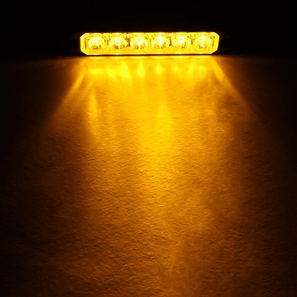 Image 3 - Bogrand Car Led Strobe Flash Warning Light 12v Red Flashing Lights Powerful Mini Led Emergency Vehicle Lights Synchronized-in Alarm Lamp from Security & Protection