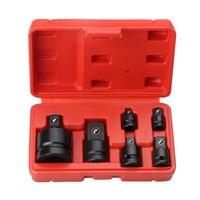 6Pcs 미니 소켓 렌치 핸드 툴 세트 1/4 1/2 3/8 3/4 래칫 브레이커 드라이브 스패너 세트 공압 슬리브 어댑터 렌치