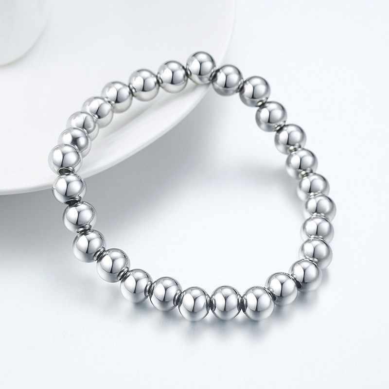 Jóias de aço inoxidável encantos grânulos pulseiras pulseiras femme presentes para homem braslet
