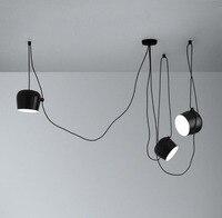 Nordic Minimalism Pendant Light Designer Creative Aluminum Lighting White Black Cafe Clothing Store Drum Art Lamp L