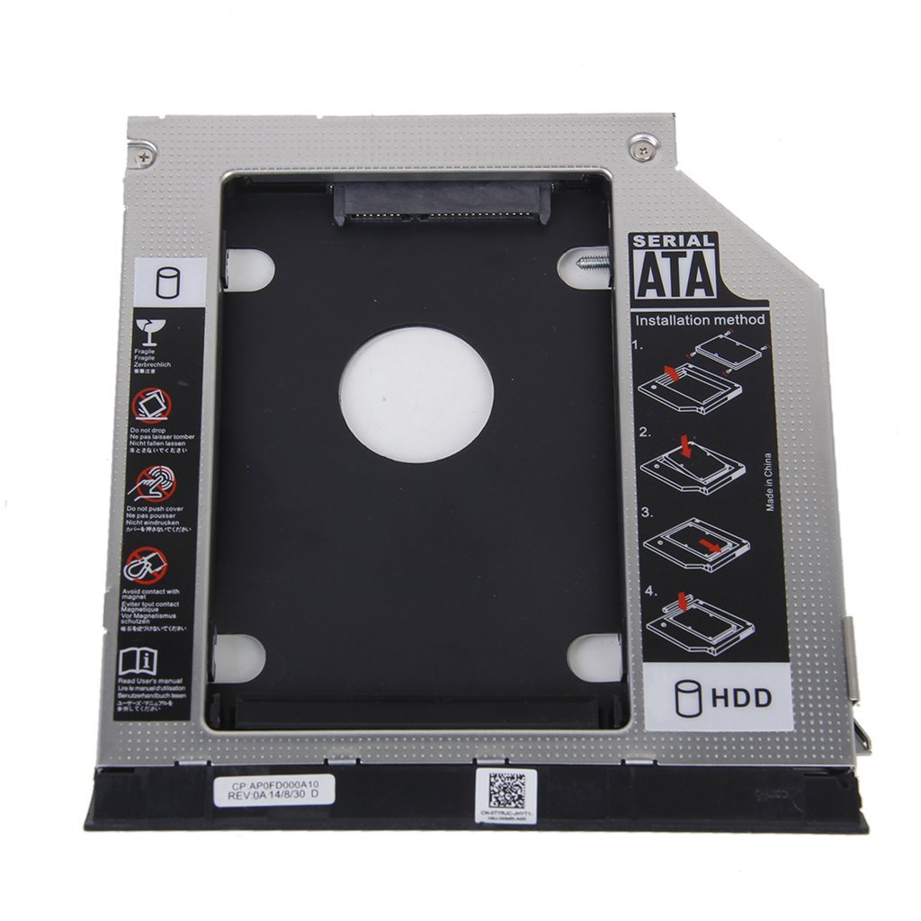 2nd HDD Bracket For Dell E6420 E6520 E6320 E6430 With Ejector + Bezel