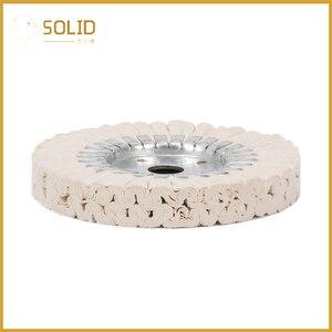 Image 3 - 6 zoll Baumwolle Atemwege Polieren Tuch Rad Polier Pad 20mm Bohrung für eine Spiegel Finish auf Aluminium Und Edelstahl polieren Werkzeug