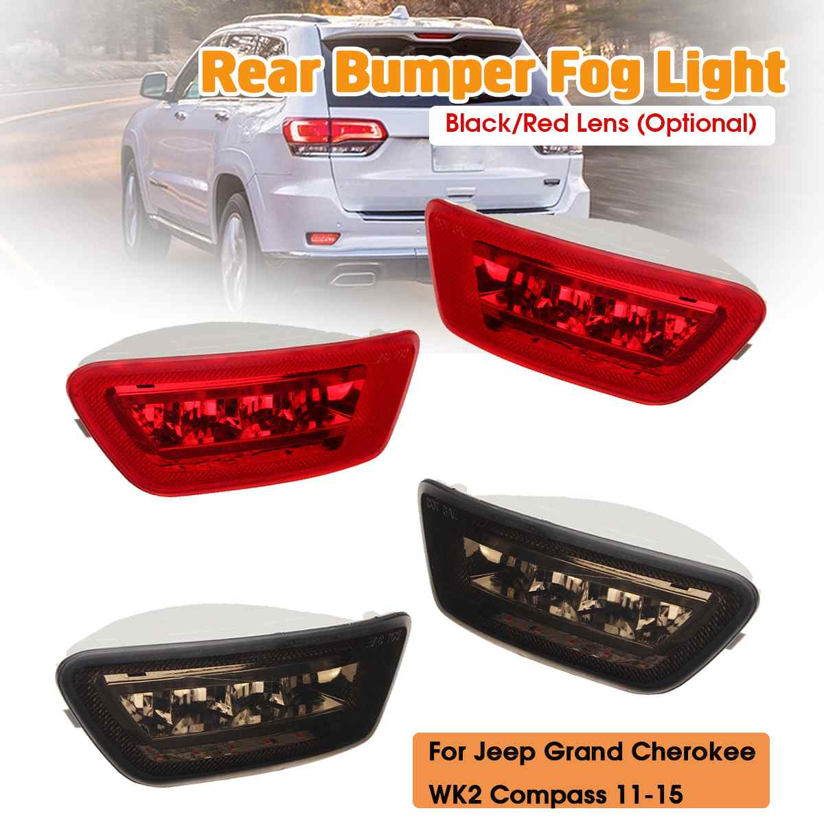 2011 2012 2013 Jeep Grand Cherokee Fog Lights Bumper Lamps Switch+Wire 11 12 13