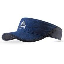Aonijie солнцезащитный козырек кепки для бега шапки Спорт Пляж Гольф Рыбалка марафон с регулируемым ремешком анти УФ Быстросохнущий легкий Summe