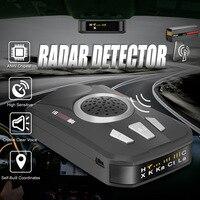 M8 Car Universal Radar Detector Full Band Scanning Car Radar Voice Alert Warning Speed Control Detector