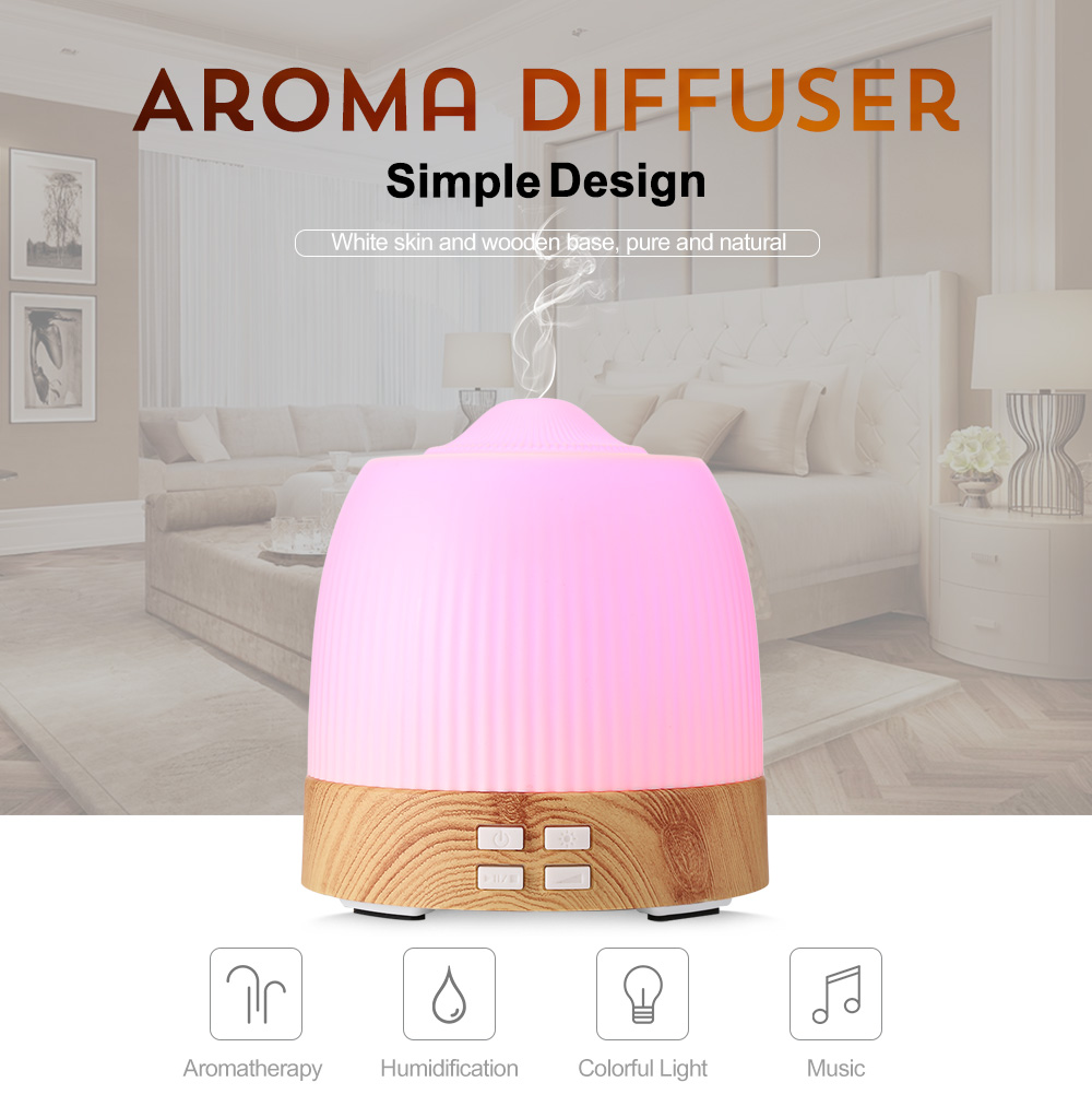 NBO - XAO2 120ml Ultrasonic Music Mist Humidifier Aroma Essential Oil Diffuser 7-Colored Lights Heavy Light Mist HumidifierNBO - XAO2 120ml Ultrasonic Music Mist Humidifier Aroma Essential Oil Diffuser 7-Colored Lights Heavy Light Mist Humidifier