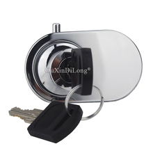 DHL Shipping 50Sets Double Glass Door Lock Jewelry Shopping Malls Showcase Display Cabinet Locks
