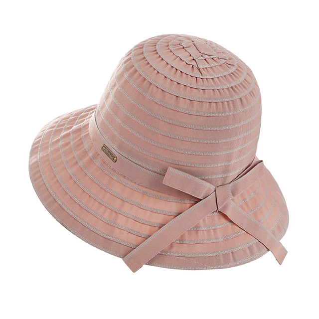 4a3c2b29b10 Women Wide Brim Bucket Cap Summer Outdoor Beach Sunscreen Fishing Hat  Ladies Ribbon Fisherman Hats New