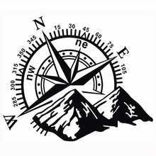 Mayitr 60*50cm Car Hood Side Body Compass Vinyl Sticker Decal Off Road Styling