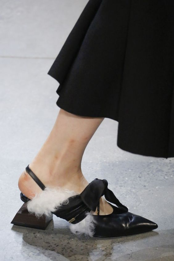 Fashion Women Sandals Summer Straps Butterfly knot Fur Party Shoes Comfortable Black Street Strange Heels Shoes Free Shi in High Heels from Shoes