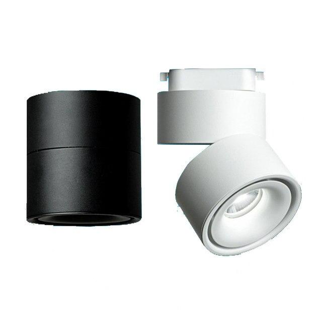 GD 4pcs LED Track Light 5W 7W 10W 12W LED Recessed Downlight AC85 265V Open Mounted Downlight Track Rail Light Adjustable Spot