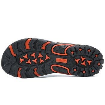 Brand PU Leather Summer Men Slippers Beach Sandals Comfort Men Casual Shoes Fashion Men Flip Flops Hot Sell Footwear 2019 1