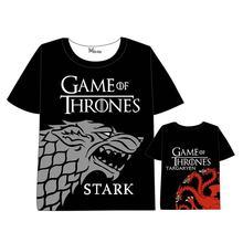 Hot New Game of Thrones T-shirt Men Women Short Sleeve Summer dress  Tops Unisex The movie t shirt