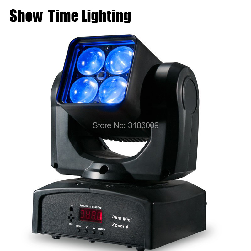 New Arrival High Bright Mini Led Zoom Beam Moving Head Lite 4pcs  RGBW 4 IN 1 Moving Head Professional Stage KTV DJ Party Lite