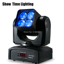 New arrival high bright mini Led zoom beam moving head lite 4pcs  RGBW 4 IN 1 professional stage KTV DJ Party