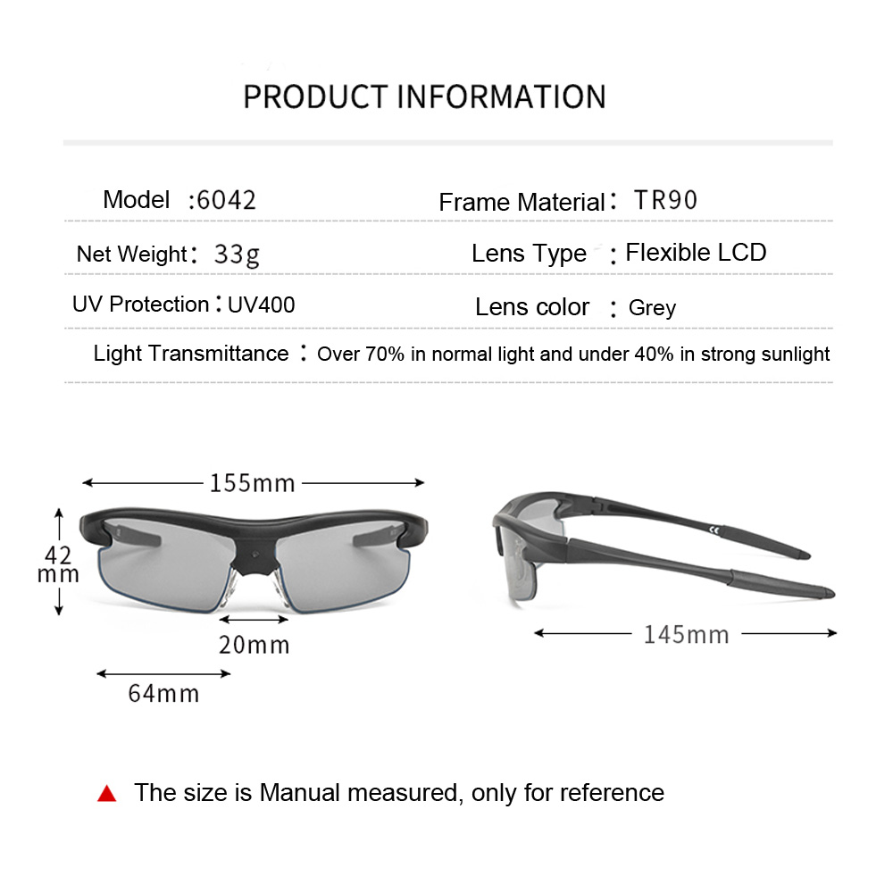 0 1 Second Change Color Sunglasses Outdoor Sports Sun Glasses Photochromic Glasses Frame Amazing Intelligent Technology Goggles in Men 39 s Sunglasses from Apparel Accessories