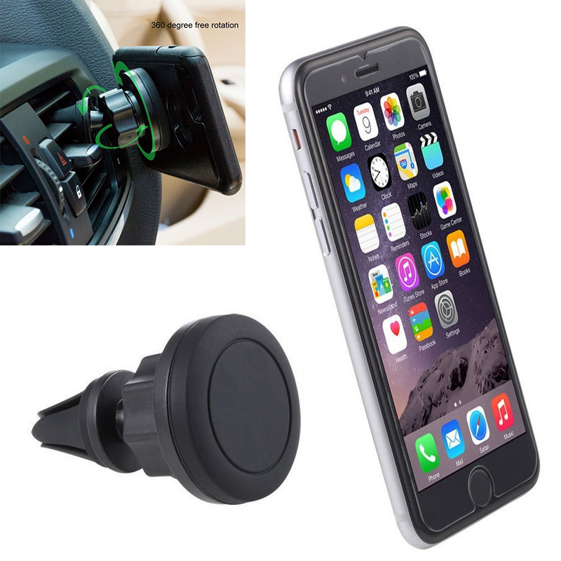 Magnetic Phone Holder For Xiaomi Pocophone F1 360 Degree Car Vehicle Air Vent Mount Magnetic Phone GPS Holder Stand Bracket