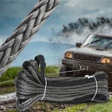Синтетический трос лебедки линия 10 мм x 30 м кабель восстановления Мойки автомобиля техническое обслуживание веревка для ATV UTV бездорожье