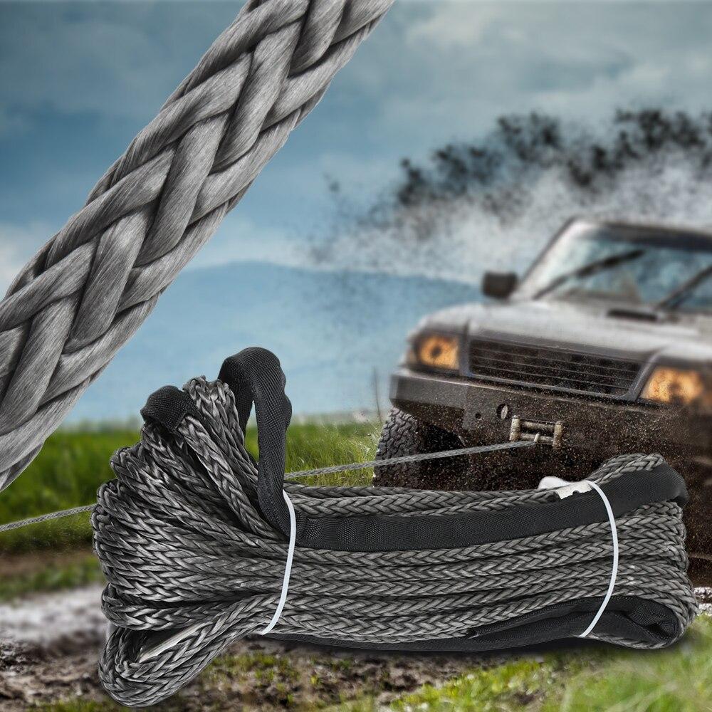 Chaîne de Maintenance de lavage de voiture de câble de récupération de ligne de treuil synthétique de 10mm x 30 m pour ATV UTV tout-terrain