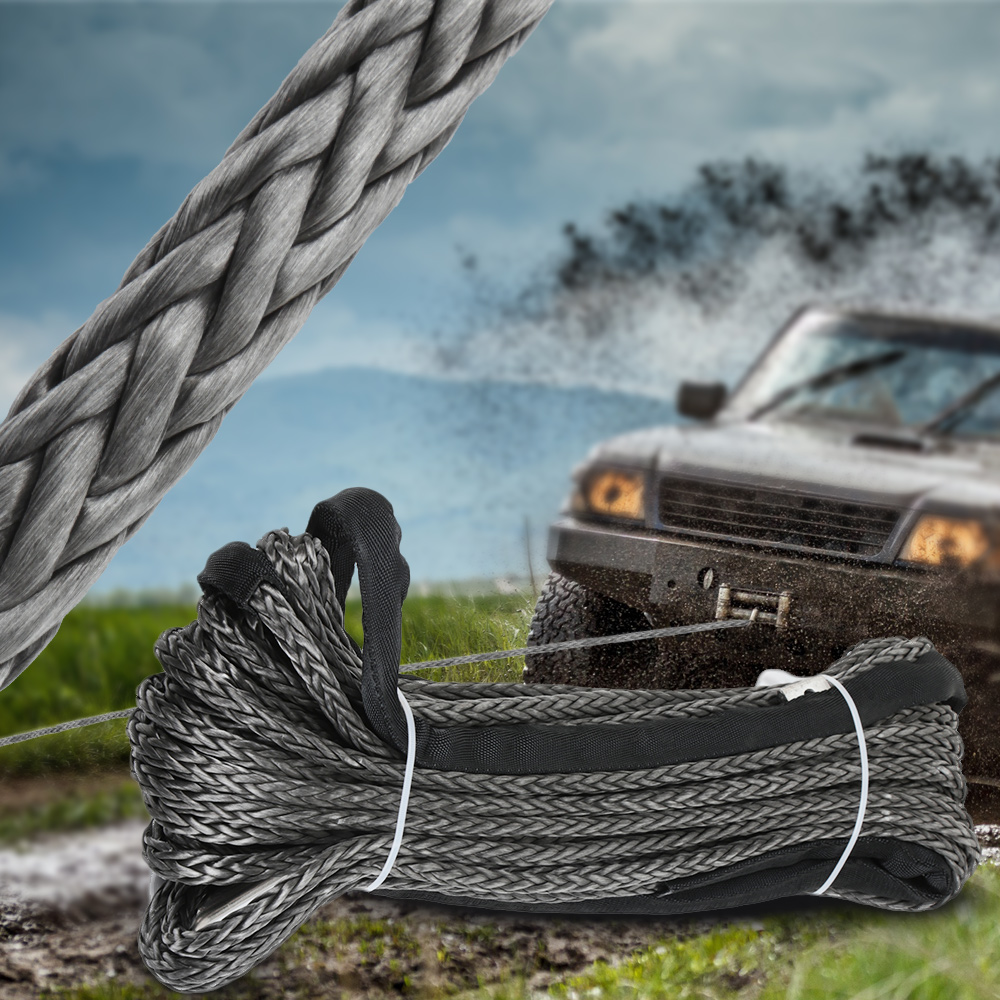 Original Synthetic Winch Rope Line 10mm X 30m Recovery Cable Car Wash Maintenance String For ATV UTV Off-Road