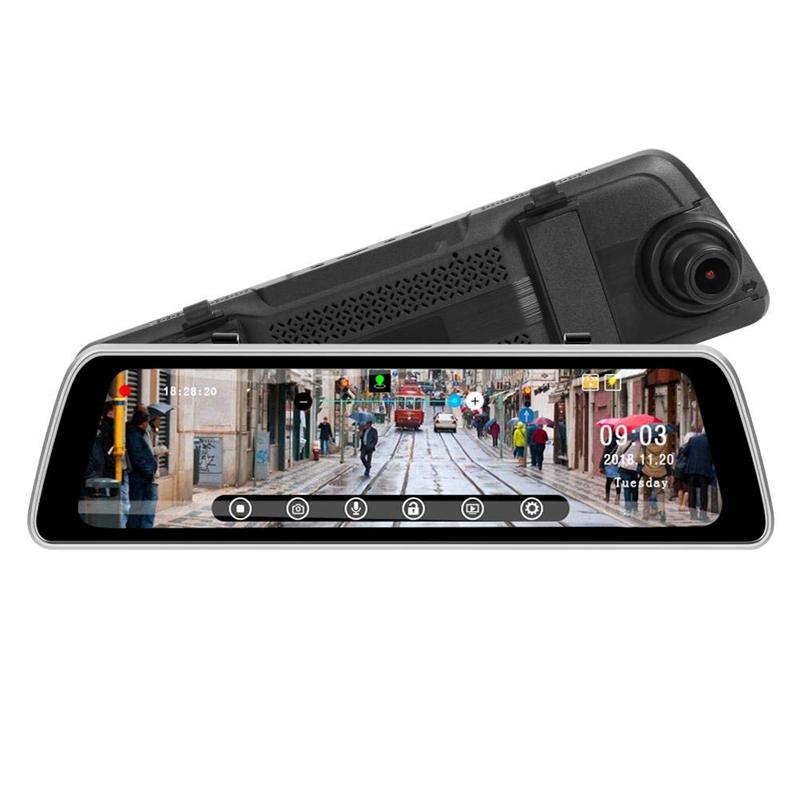 Streaming 9.35 Inch Ips PressCar Mirror Video Camera Gps Track Wdr Fhd 1080P Dash Camera With 720P Rear Cam Recorder Dvr