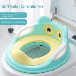 Портативное тренировочное сиденье для детского туалета с подлокотниками, противоскользящая подушка для мочеиспускания для младенцев, без...