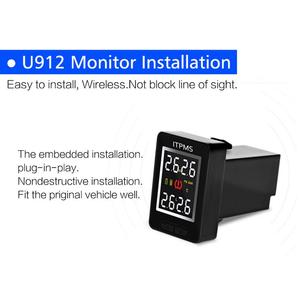 Image 5 - U912 Car Wireless Tire Pressure Monitoring System 4 Internal Anti theft Sensors LCD Real time TPMS For Toyota Land Cruiser Reiz
