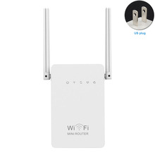 Signal Booster Wifi Extender Router Supplies Wireless-N Universal Repeater Dual Antenna Mini 300M Network