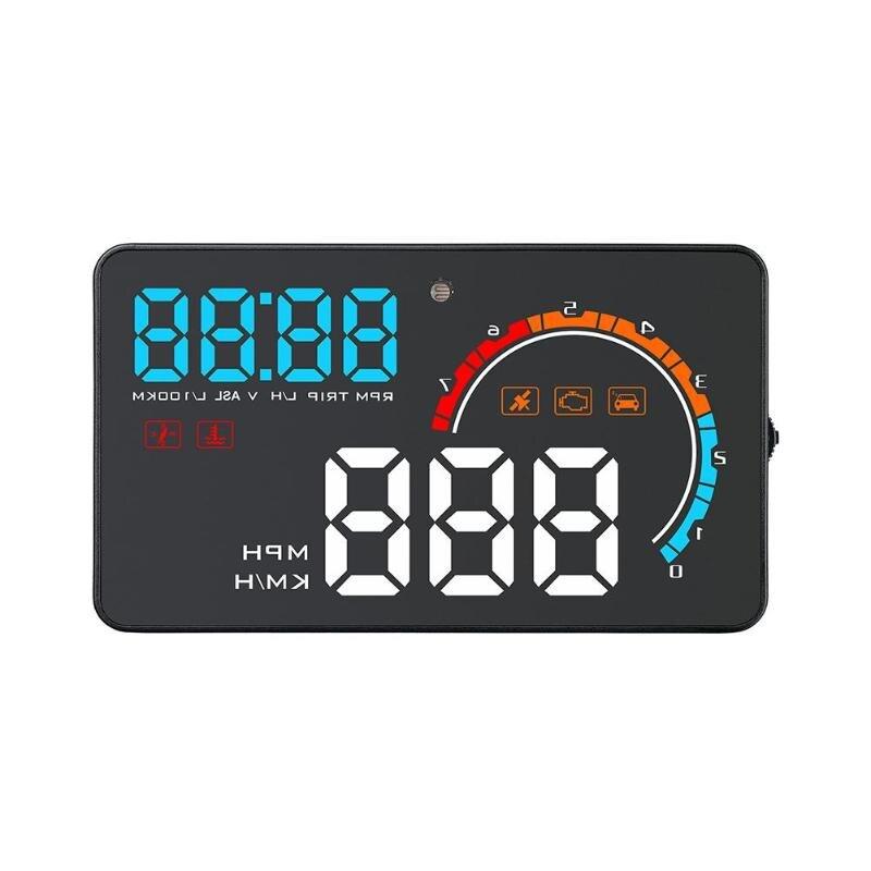 D2500 voiture affichage tête haute OBD2 HUD GPS projecteur véhicule en verre Auto numérique voiture conduite données affichage vitesse tr/min température de l'eau