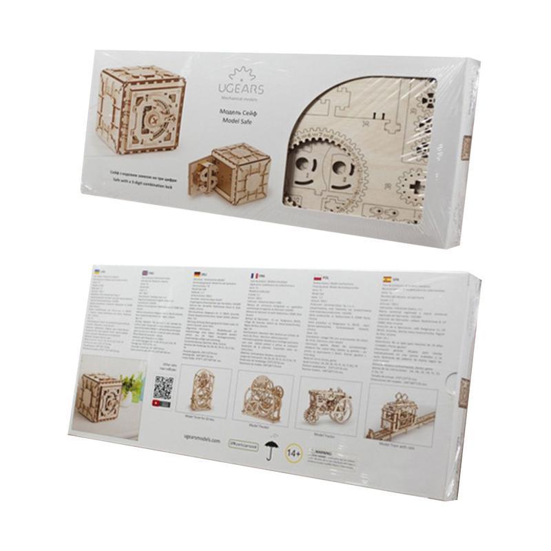Bricolage créatif 3D assemblage en bois Puzzle jouet serrure innovante boîte au trésor Transmission mécanique romantique saint valentin cadeau - 6
