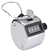 New Hand Tally Counter Portable Four Digit Display Stainless Metal Handheld Number Click Golf Counter Clicker Measuring Tool цены
