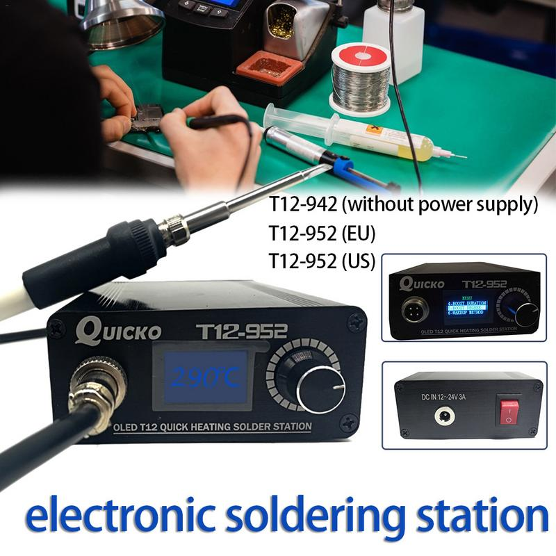 2019 New design T12 OLED soldering station mini electronic soldering iron DC version portable T12 digital iron T12-942 /T12-9522019 New design T12 OLED soldering station mini electronic soldering iron DC version portable T12 digital iron T12-942 /T12-952