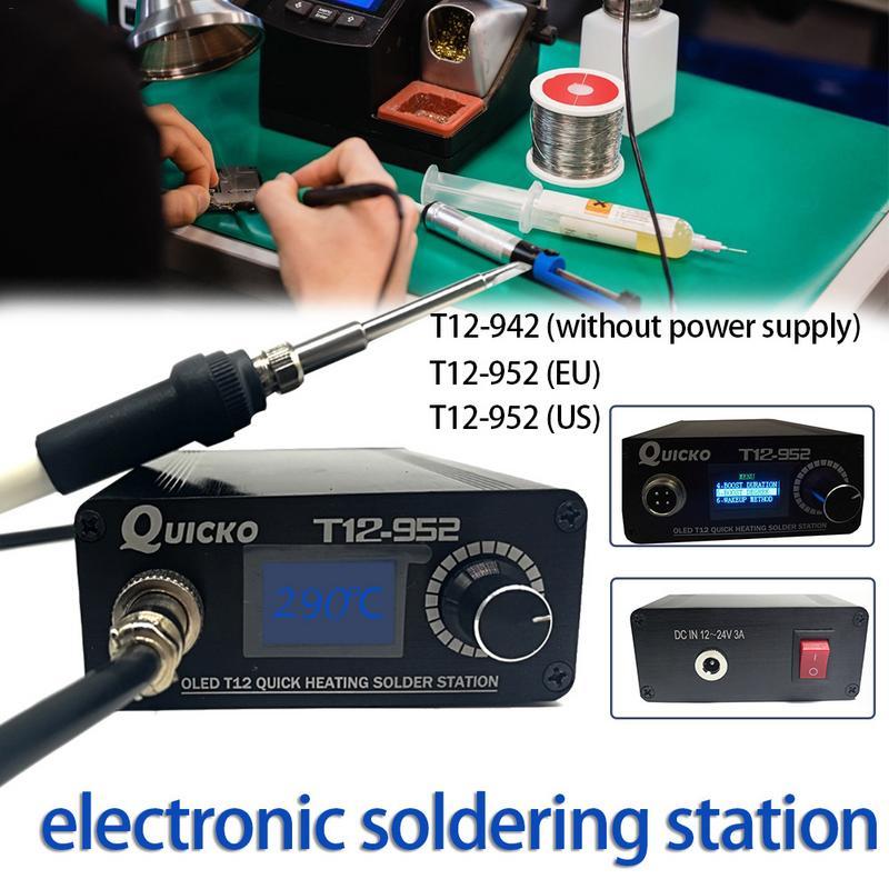2019 nouveau design T12 OLED station de soudage mini fer à souder électronique version DC portable T12 numérique fer T12-942/T12-952