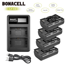 Bonacell 2600mAh LP-E6 Digital Camera Battery+LCD Dual Charger For Canon EOS 5D Mark II 2 III 3 6D 7D 60D 60Da 70D 80D DSLR L10 2600mah lp e6 lp e6 digital camera battery usb charger for canon eos 5d mark ii 2 iii 3 6d 7d 60d 60da 70d 80d dslr eos 5ds