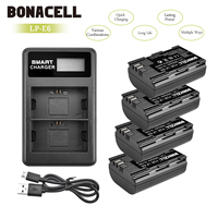 Bonacell 2600mAh LP E6 Digital Camera Battery+LCD Dual Charger For Canon EOS 5D Mark II 2 III 3 6D 7D 60D 60Da 70D 80D DSLR L10