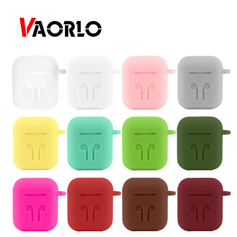 Soft Silicone Earphone Case For Apple <font><b>Airpods</b></font> Case Cover Protective Skin Accessories <font><b>tws</b></font> i10 i20 <font><b>i30</b></font> i60 Charging Box Shockproof image
