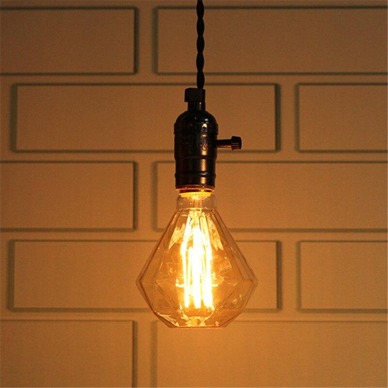 Led Bulbs & Tubes Objective Claite Vintage Edison Bulb E27 40w G95 Warm White Diamond Retro Edison Light Bulb Tungsten Lamp Ac220-240v