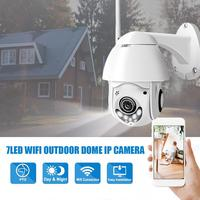 1080P 7LED PTZ Mini WIFI Outdoor Dome Home Security IP Camera Wireless HD 2MP CCTV Onvif Waterproof Night Vision Full Color Moti
