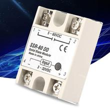 DC-DC Solid State Relay SSR-60DD 60A 3-32VDC to 5-110VDC SSR ssr 25dd 40dd 60dd 80dd ssr single phase dc control dc heat sink 3 32vdc to 5 220vdc25a 40a 60a 80add solid state relay