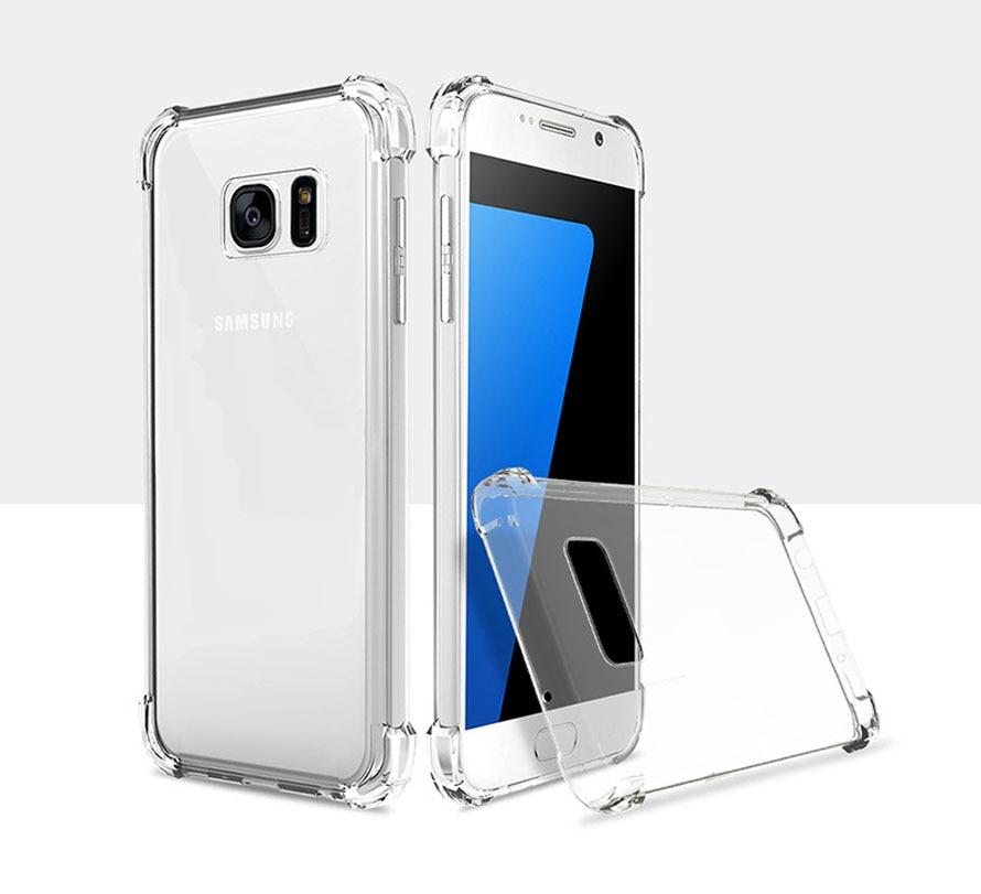 For Samsung Galaxy A8S S10 E S9 Plus J4 J6 Prime Plus J8 A8 A9 Star Lite S8 S7 S6 Edge Note 8 9 Anti Knock Clear Back Case
