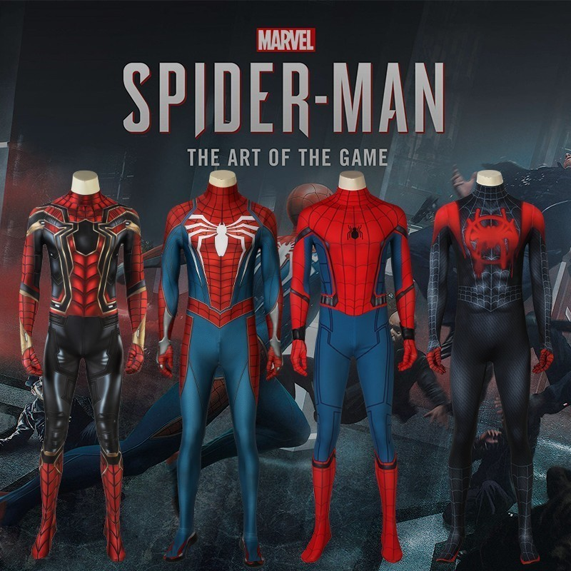 Spiderman Costume Homecoming Cosplay Ultimate Spider-Man Into The Spider-Verse Civil War Avengers Marvel Jumpsuit Halloween