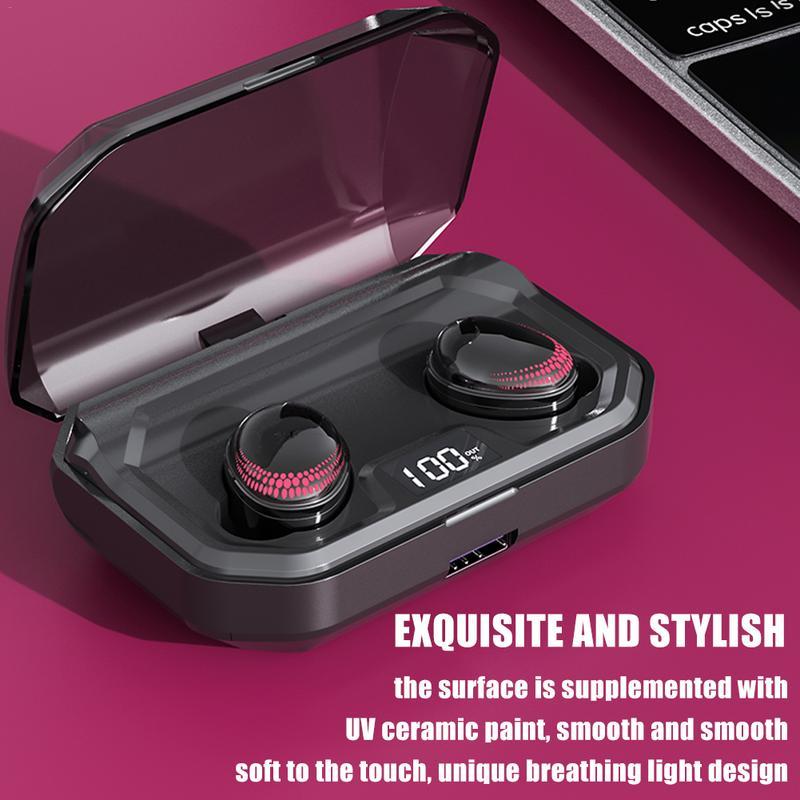 Sans fil Bluetooth 5.0 Smart Touch TWS casque écouteurs haute qualité stéréo réduction du bruit affichage numérique sport écouteurs - 3